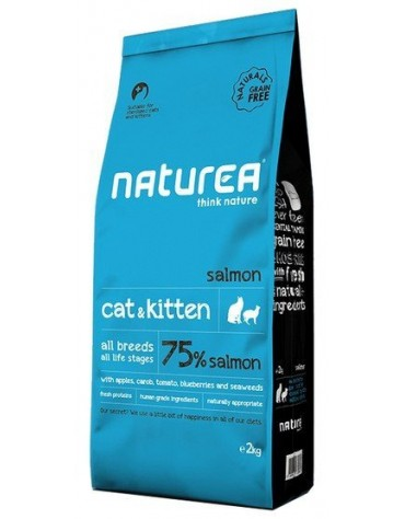 Naturea Cat & Kitten Łosoś 7kg