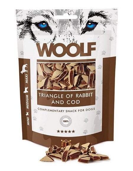 Woolf Rabbit & COD Triangle 100g