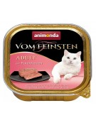 Animonda vom Feinsten Cat Adult z Sercami Indyka tacka 100g