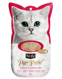 Kit Cat PurrPuree Tuna & Smoked Fish 4x15g