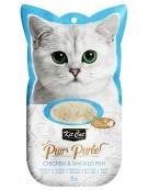 Kit Cat PurrPuree Chicken & Smoked Fish 4x15g