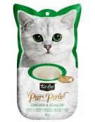 Kit Cat PurrPuree Chicken & Scallop 4x15g