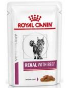 Royal Canin Veterinary Diet Feline Renal Wołowina saszetka 85g