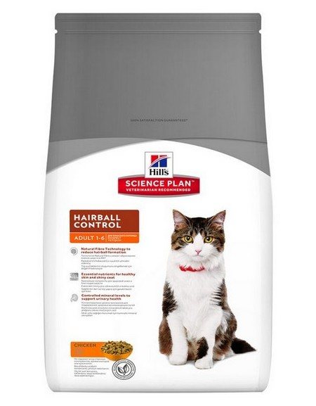Hill's Feline Adult Hairball Control Chicken 5kg