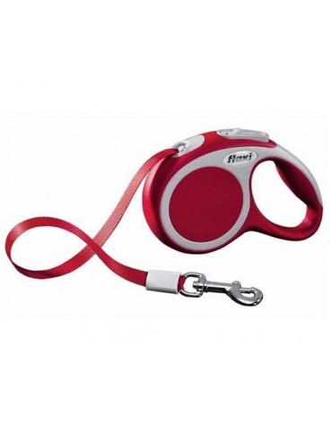 Flexi Vario Smycz taśma XS 3m czerwona [FL-9818]