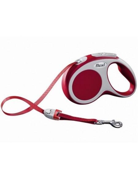 Flexi Vario Smycz taśma S 5m czerwona [FL-9917]