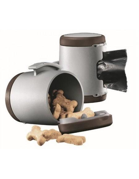 Flexi Vario Multi Box brązowy - dodatkowy pojemnik do smyczy Vario [FL-0630]