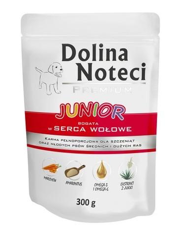 Dolina Noteci Premium Pies Junior Serca wołowe saszetka 300g