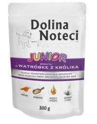 Dolina Noteci Premium Pies Junior Wątróbka z królika saszetka 300g