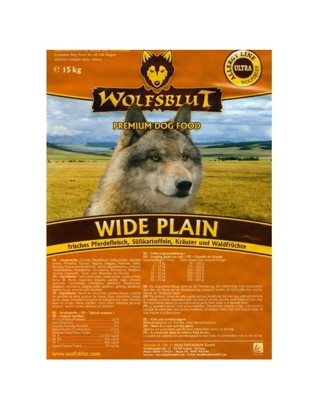 Wolfsblut Dog Wide Plain konina i bataty 15kg