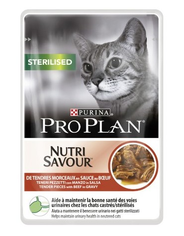 Purina Pro Plan Cat Sterilised wołowina saszetka 85g