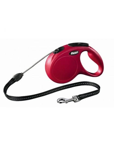 Flexi New Classic Smycz linka M 5m czerwona [FL-2603]