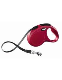 Flexi New Classic Smycz taśma S 5m czerwona [FL-3204]