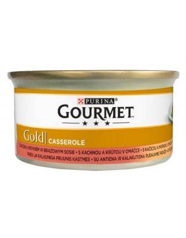Gourmet Gold Kaczka i indyk w brązowym sosie 85g
