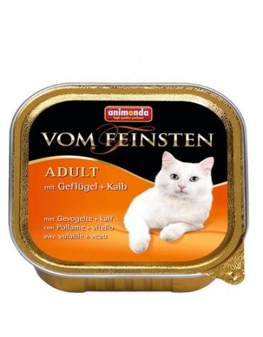 Animonda vom Feinsten Cat Adult z Drobiem i Cielęciną tacka 100g