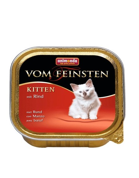Animonda vom Feinsten Cat Kitten z Wołowiną tacka 100g