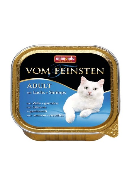 Animonda vom Feinsten Cat Adult z Łososiem i Krewetkami tacka 100g