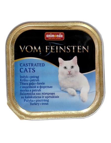 Animonda vom Feinsten Castrated Cats z Indykiem i Pstrągiem tacka 100g