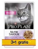 Purina Pro Plan Cat Delicate indyk saszetka 4x85g 3+1 gratis