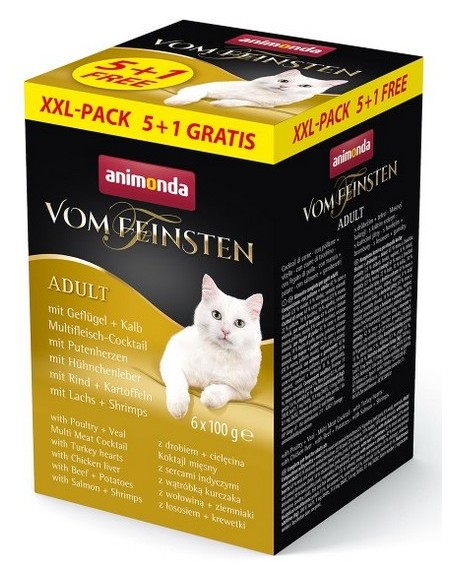 Animonda vom Feinsten Cat MixPack 5+1 gratis tacki 6x100g