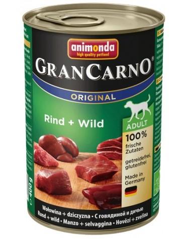 Animonda GranCarno Adult Rind Wild Wołowina + Dziczyzna puszka 400g