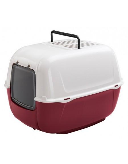 Ferplast Prima New Toaleta dla kota biało-bordowa [72053799EL]