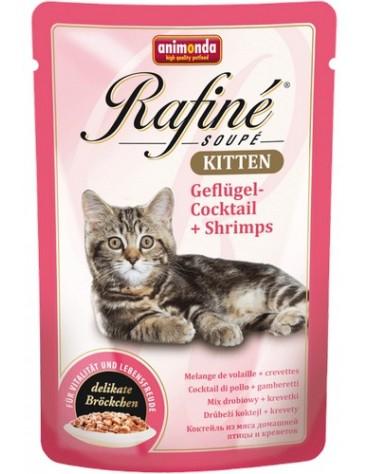 Animonda Rafiné Kitten Koktail drobiowy + Krewetki saszetka 100g