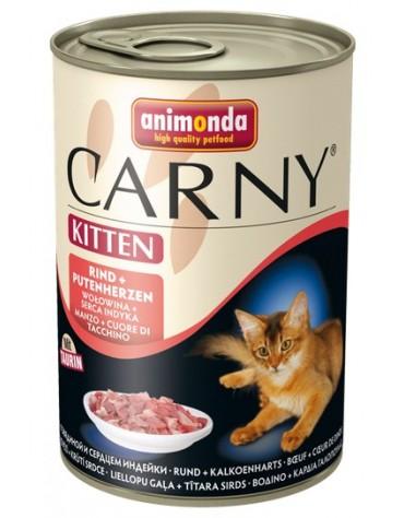 Animonda Carny Kitten Wołowina + Serca indyka puszka 400g