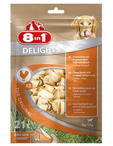 8in1 Delights Bones XS torebka 21 sztuk