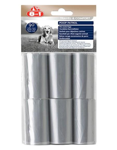 8in1 Worki na odchody Poop Patrol Pet Waste Bags - 6 rolek