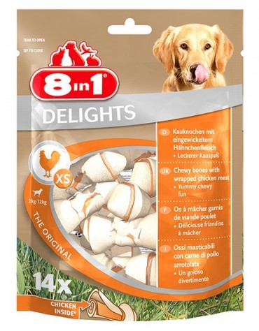 8in1 Delights Bones XS 14 sztuk