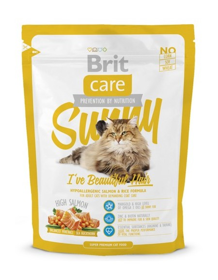 Brit Care Cat New Sunny I've Beautiful Hair Salmon & Rice 400g