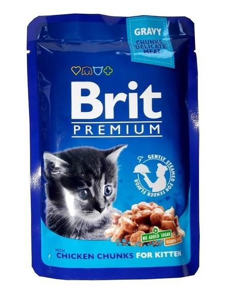 Brit Premium Cat Kitten Kurczak saszetka 100g