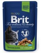 Brit Premium Cat Adult Kurczak Sterilised saszetka 100g