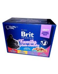 Brit Premium Cat Adult Multipack saszetki 12x100g