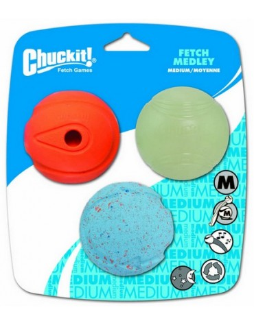 Chuckit! Fetch Medley Medium 3pak [520520]