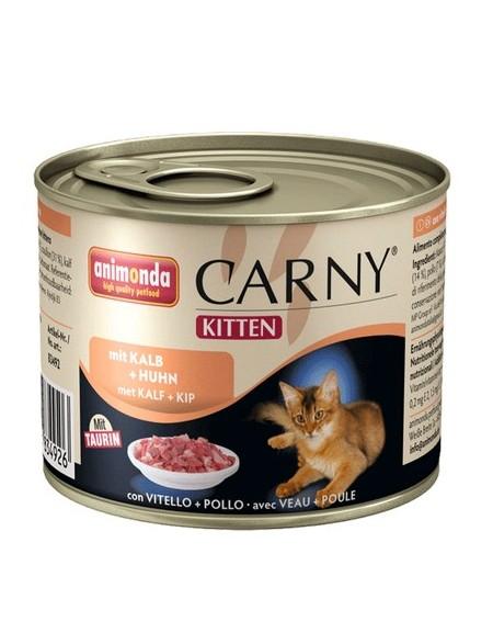 Animonda Carny Kitten Wołowina, Cielęcina + Kurczak puszka 200g