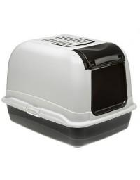 Ferplast Toaleta Maxi Bella biało-czarna - dla dużego kota [72070099]