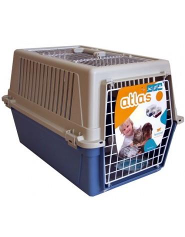 Ferplast Atlas 30 Open - transporter z otwieranym sufitem beżowo-niebieski [73017099]