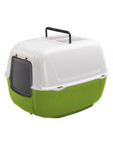 Ferplast Prima New Toaleta dla kota biało-zielona [72053799EL]