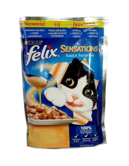 Felix Sensations Sauce Surprise Łosoś morski w sosie pomidorowym saszetka 100g
