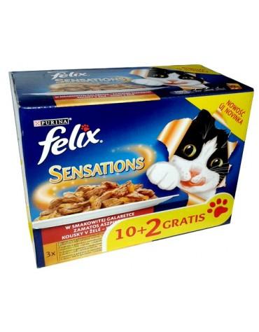 Felix Sensations Mix w galaretce saszetki 12x100g (10+2)