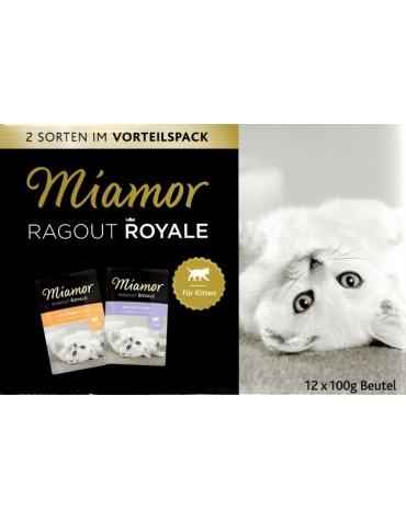 Miamor Ragout Royale Mix Galaretka Kitten - drób, wołowina saszetki 12x100g
