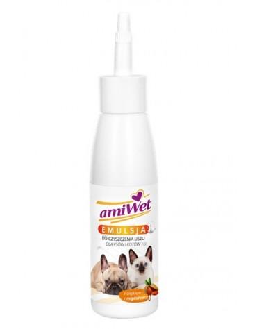 Amiwet Emulsja do czyszczenia uszu dla psów i kotów 100ml