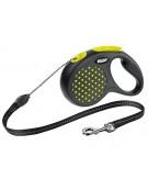 Flexi Smycz Design linka S 5m żółty