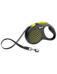 Flexi Smycz Design taśma S 5m żółty