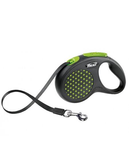 Flexi Smycz Design taśma S 5m zielony