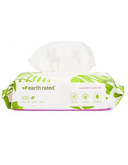 Chusteczki Earth Rated kompostowalne lawendowe 100szt