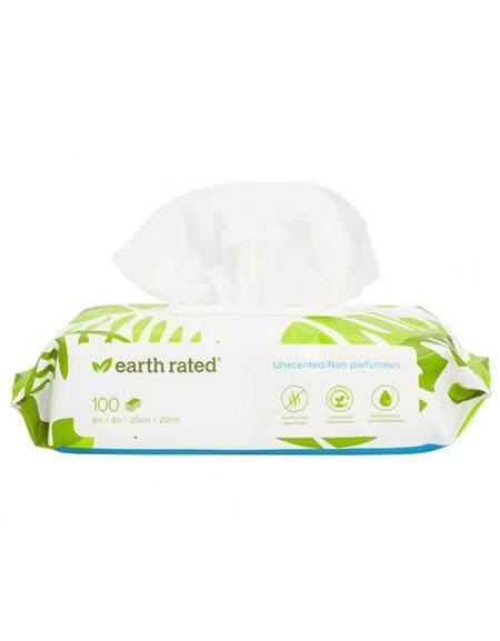 Chusteczki Earth Rated kompostowalne bezzapachowe 100szt