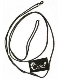 CHABA Smycz ringówka - 4mm czarna